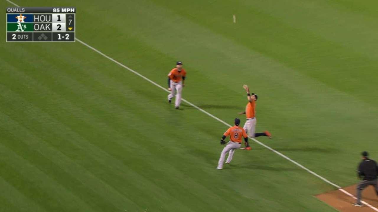 Correa's running grab on foul