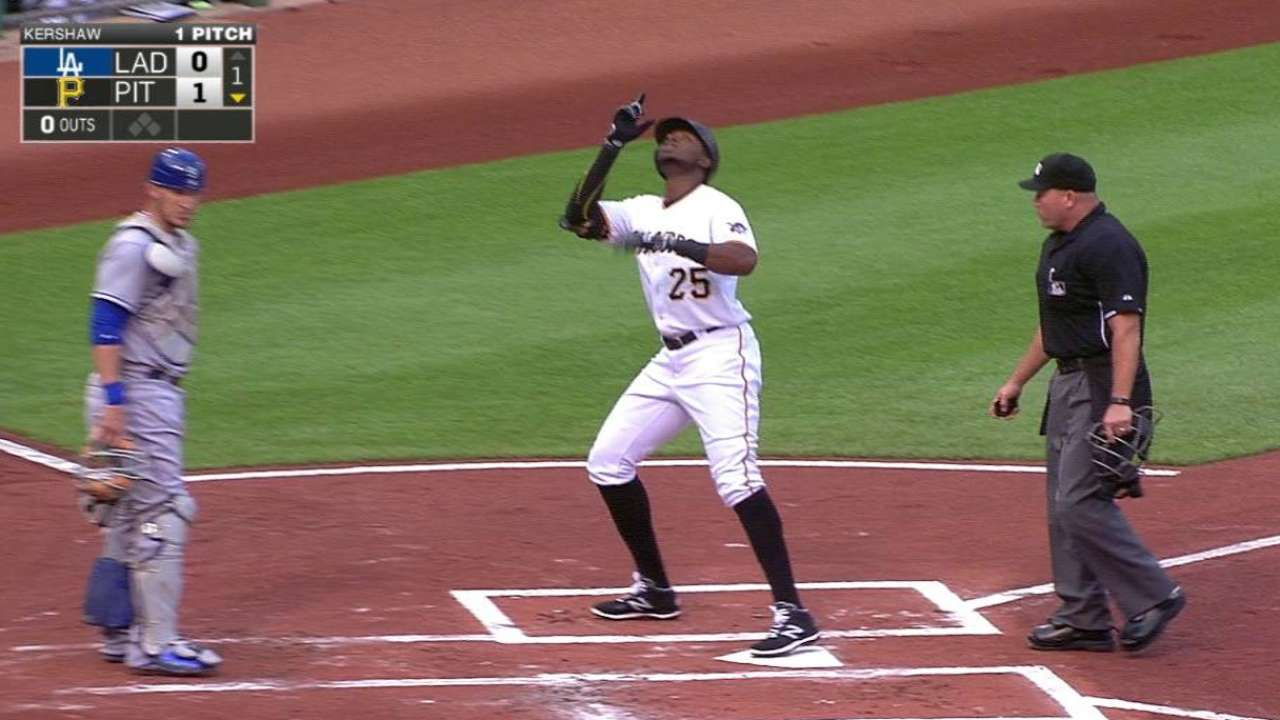 Polanco's leadoff homer