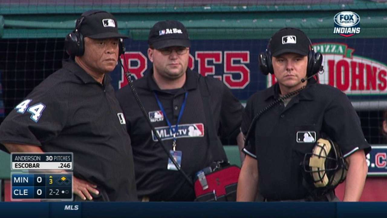 Umpires review count in the 3rd