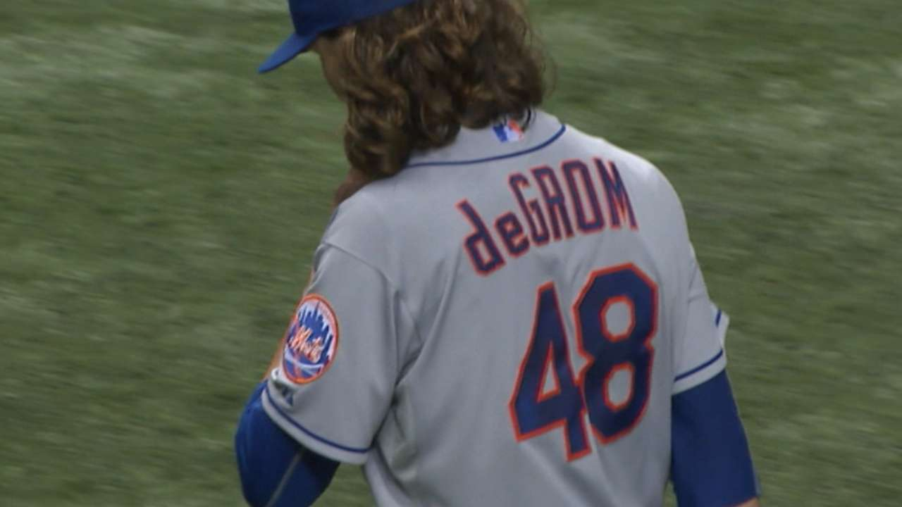 deGrom's solid start keeps Mets alive for rally