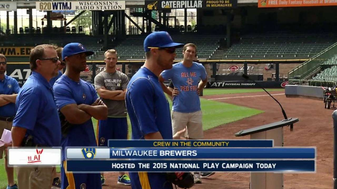 Brewers host PLAY event at Miller Park