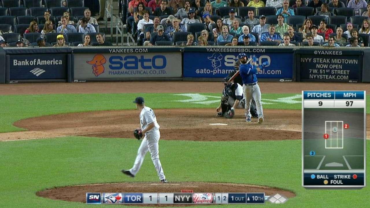 Bautista's homer in 10th shrinks AL East gap