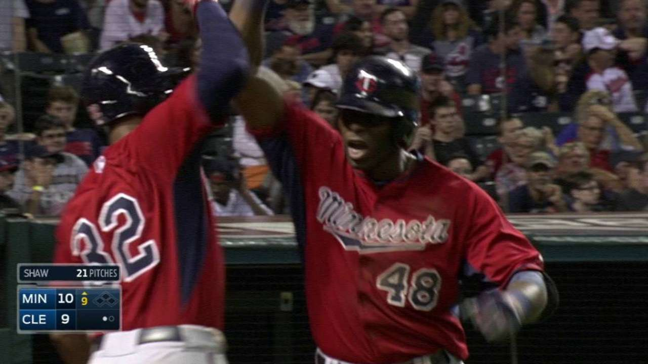 Twins defeat Tribe in offensive showcase