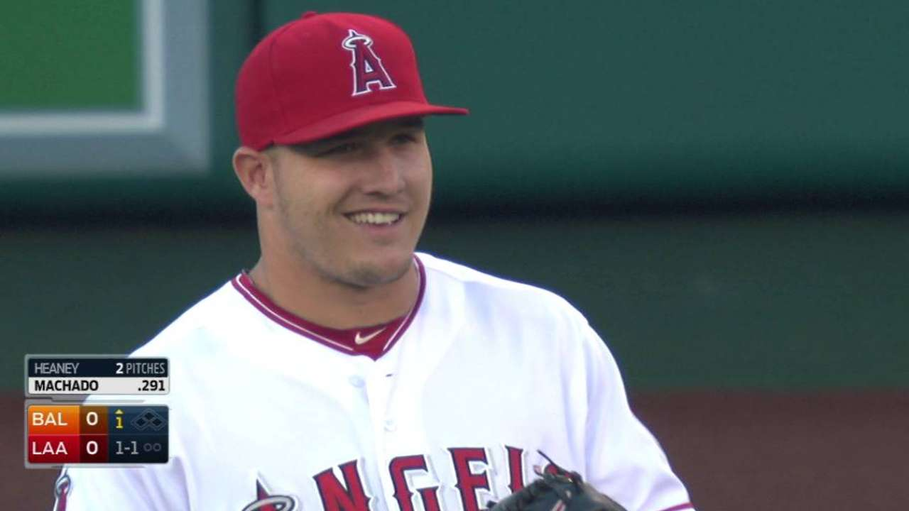 Crowd sings to Trout on birthday