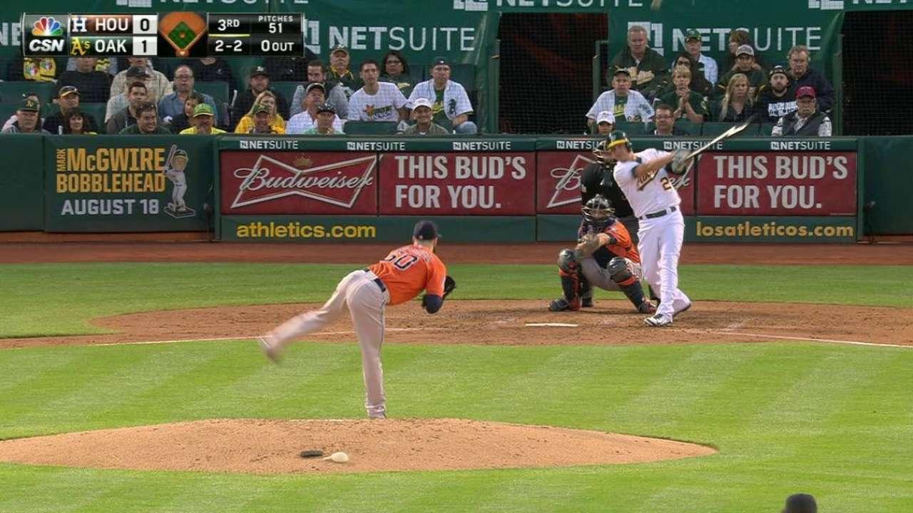 Valencia stars with bat, glove in win over Astros