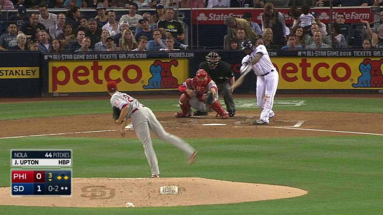 J. Upton's two-run triple
