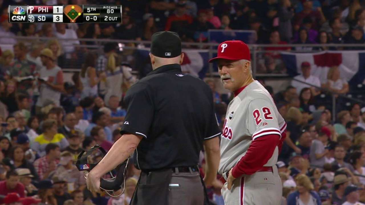 McClure ejected in the 5th