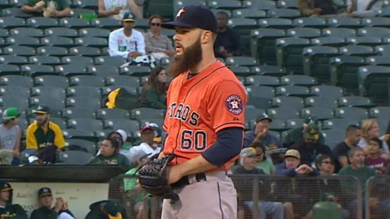 Keuchel solid, but road woes continue