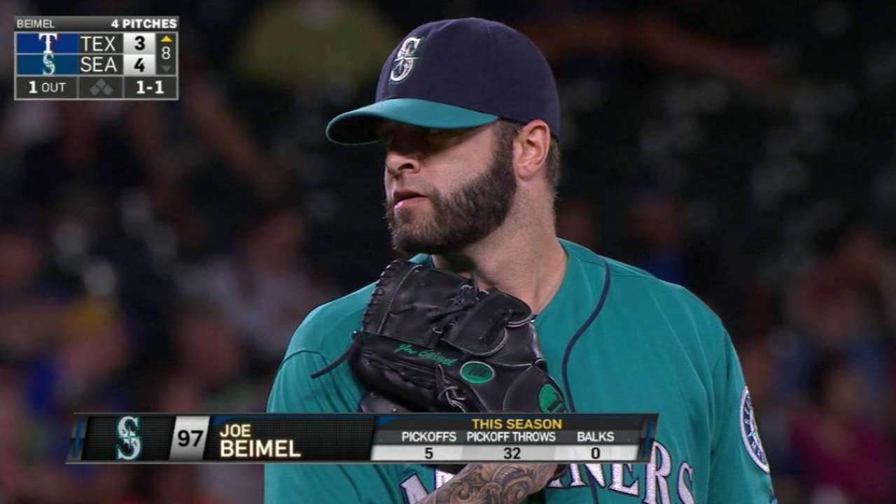 Beimel picks off Odor