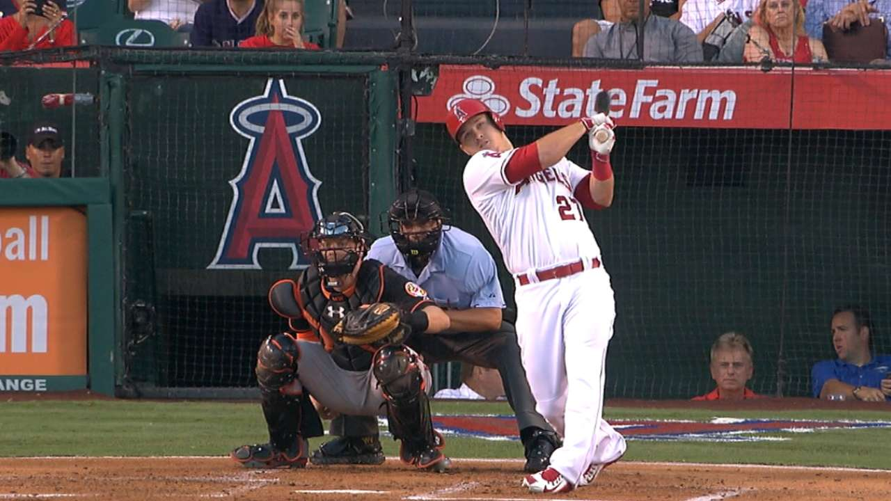 Trout is homer-happy on birthday