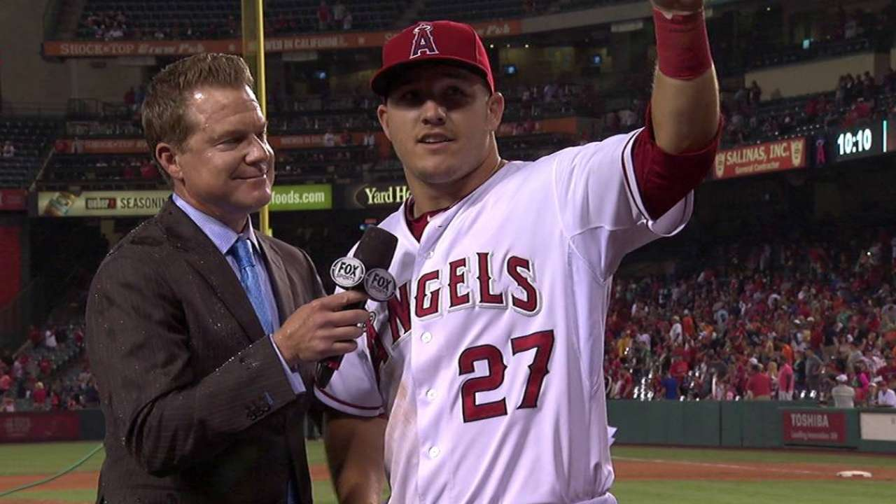 Trout on homering on birthday