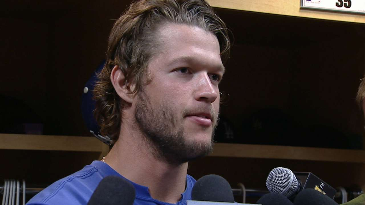 Kershaw on scoreless streak