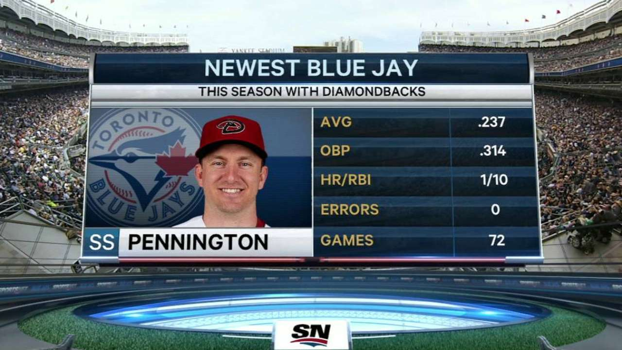 Blue Jays add Pennington to 25-man roster
