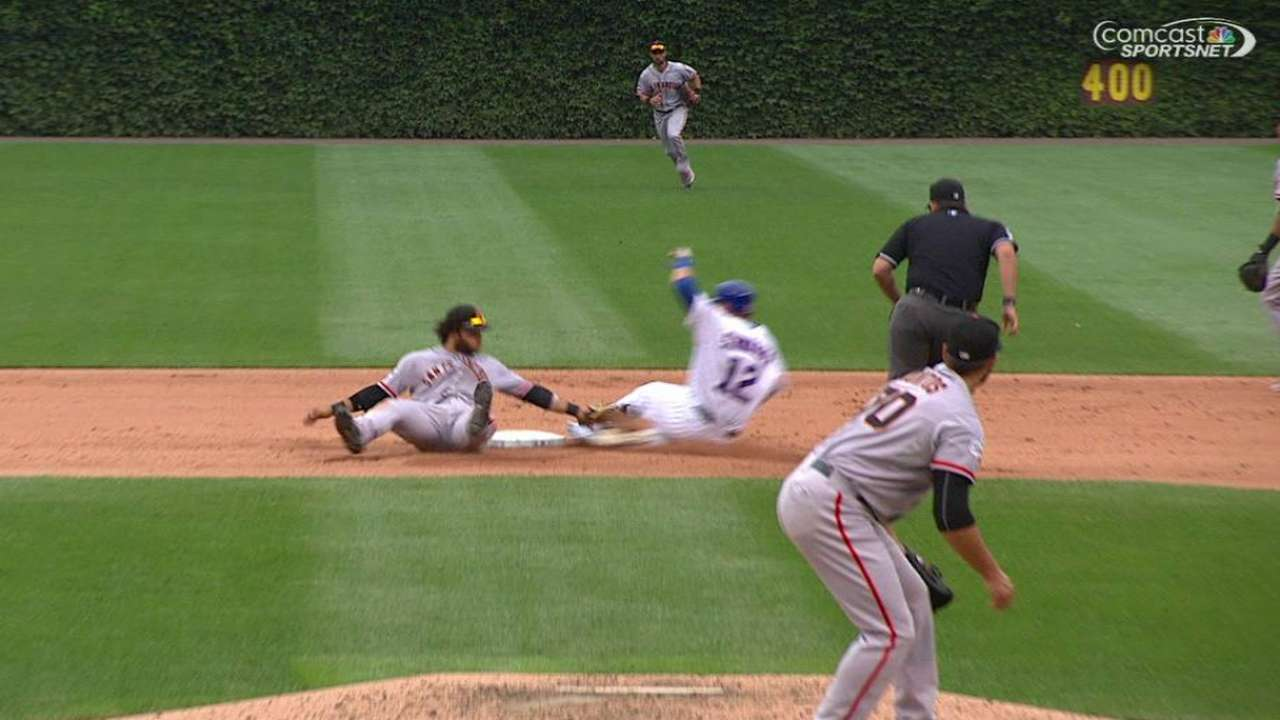 Posey nabs Schwarber at second