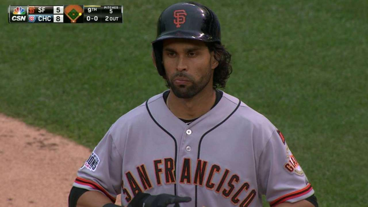 Giants expect Pagan to return Tuesday