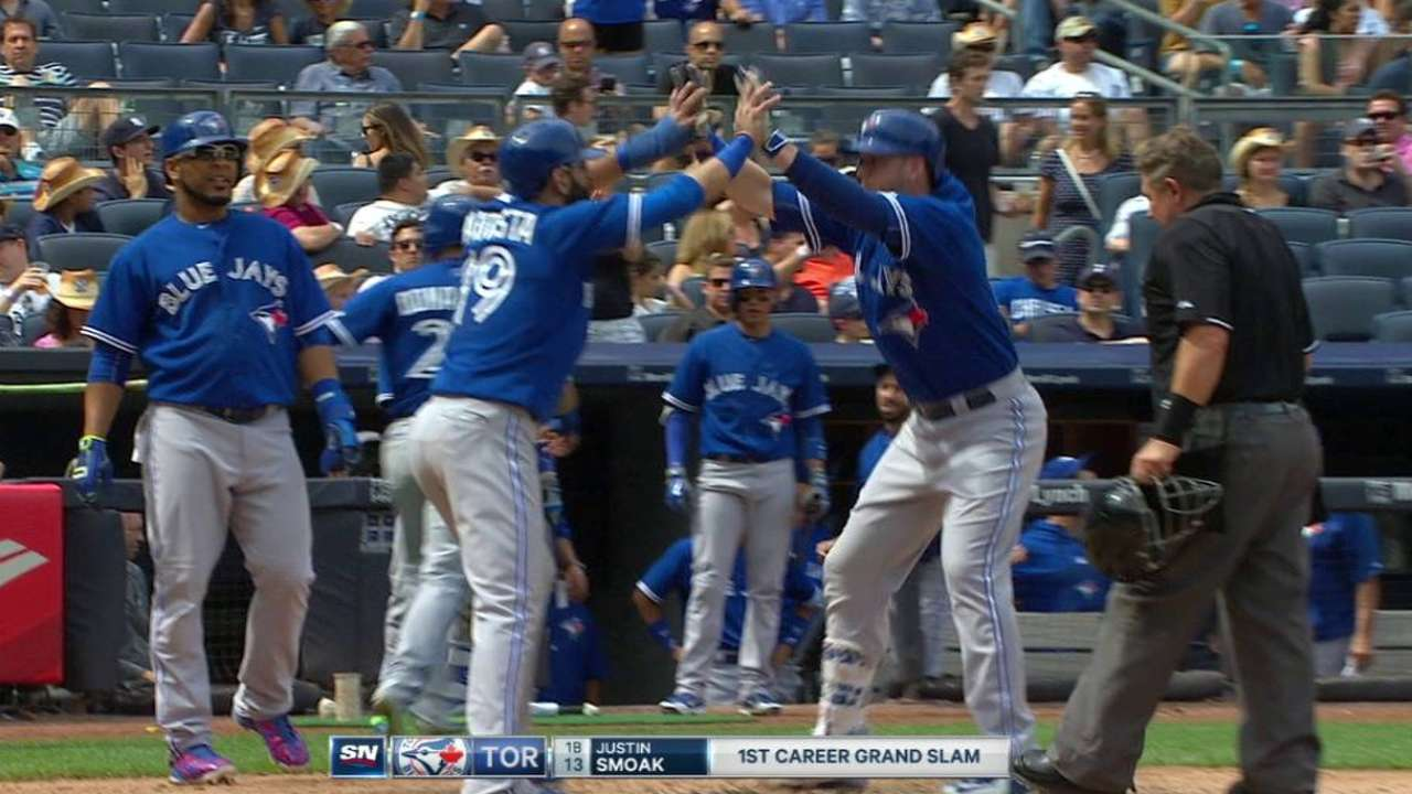 Smoak's grand slam