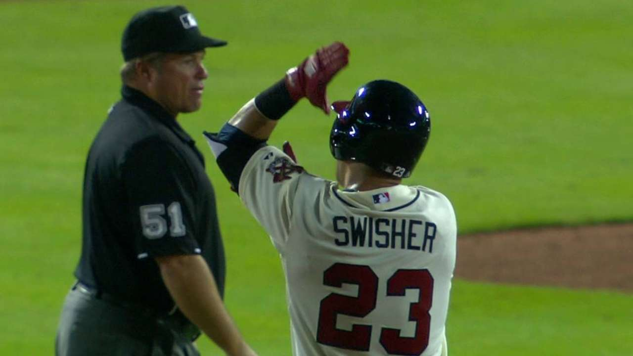 Swisher's two-run double
