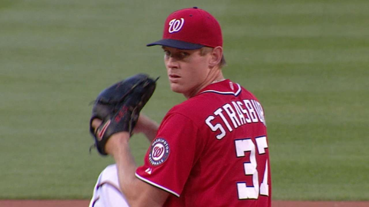 Right back at it: Strasburg sizzles off DL