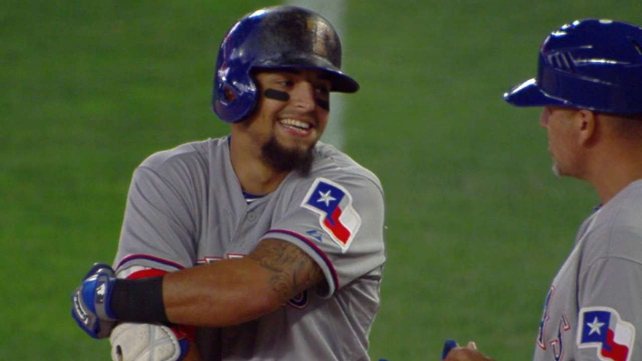 Rangers score eight in the 11th