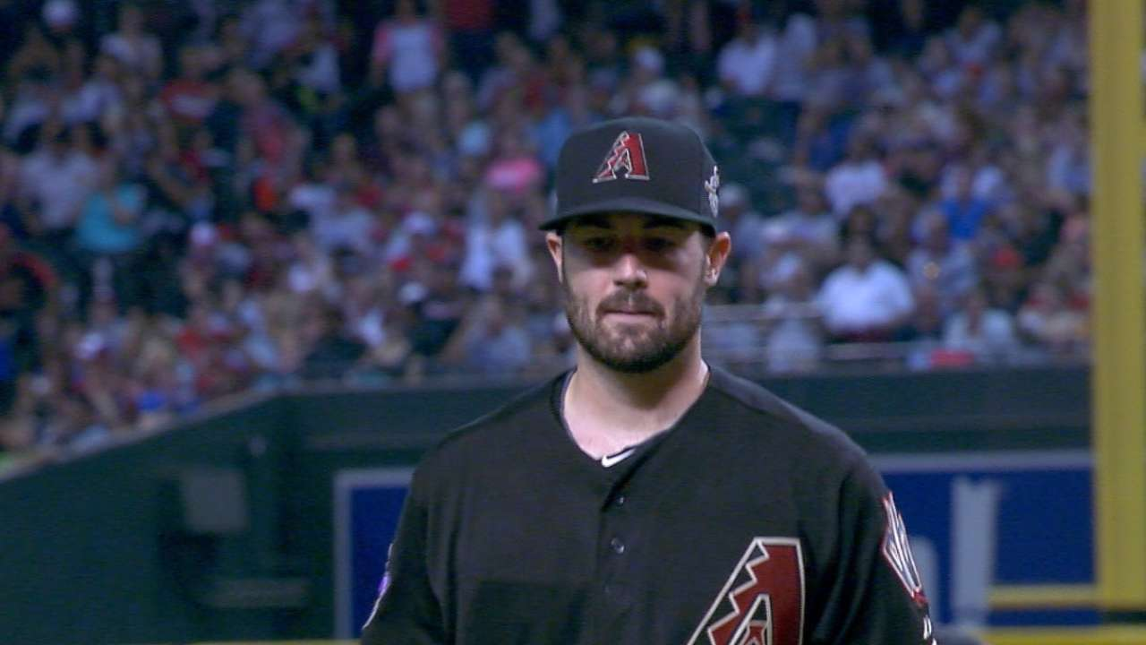 Ray takes tough-luck loss for D-backs