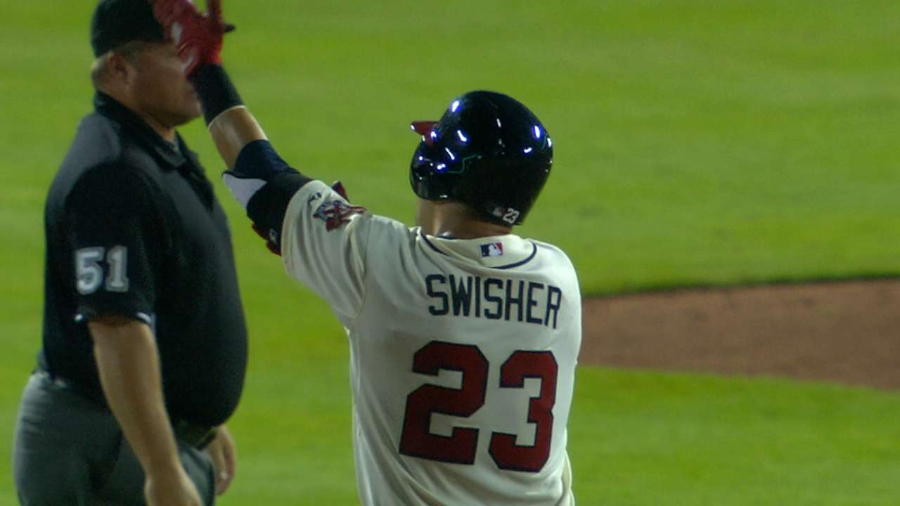 Swisher exudes excitement, gives the Chop