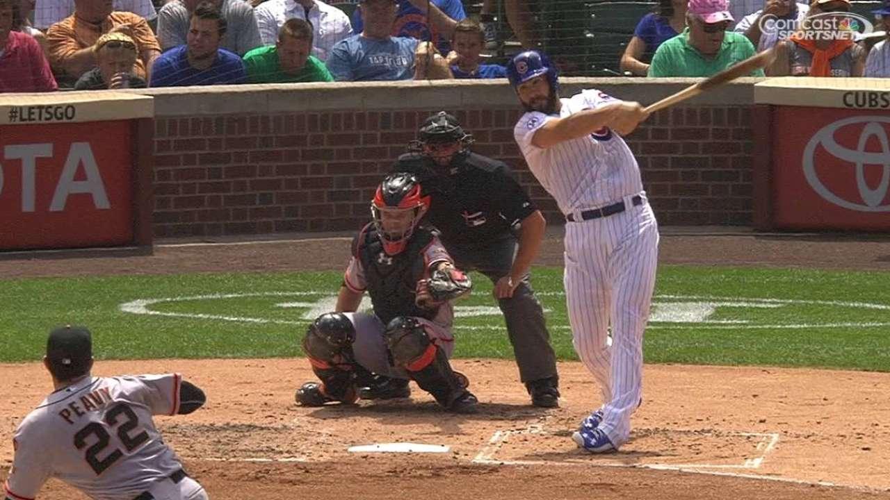 Arrieta's 2nd-inning triple