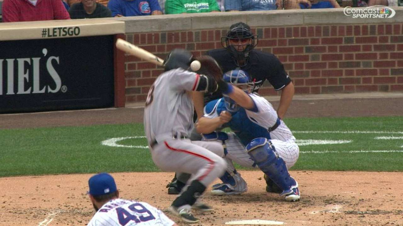 Aoki's hit-by-pitch