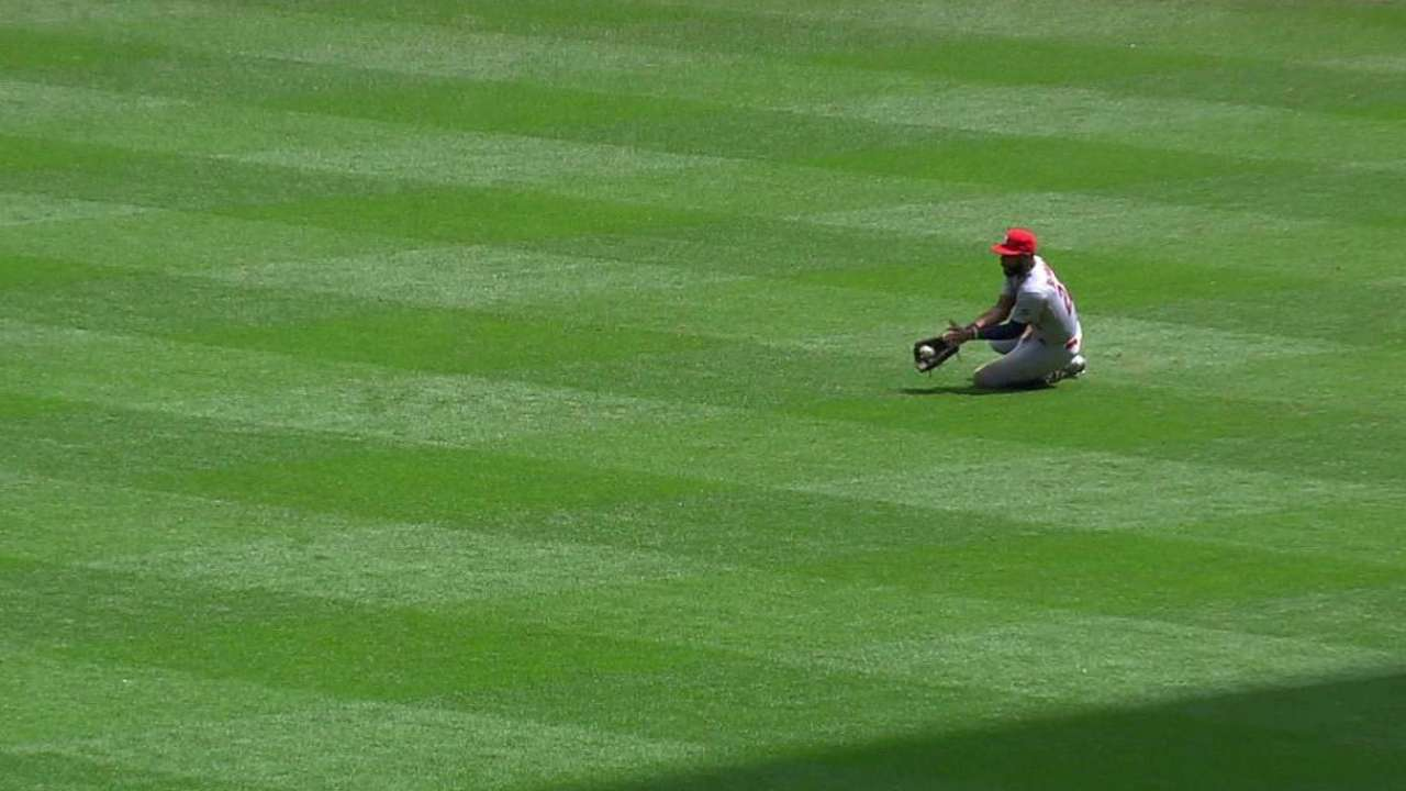 Heyward's sliding catch