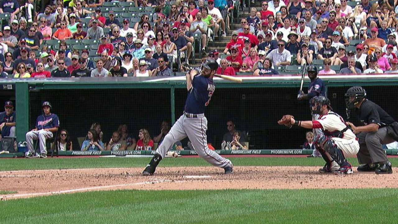 Mauer breaks up no-no in 7th
