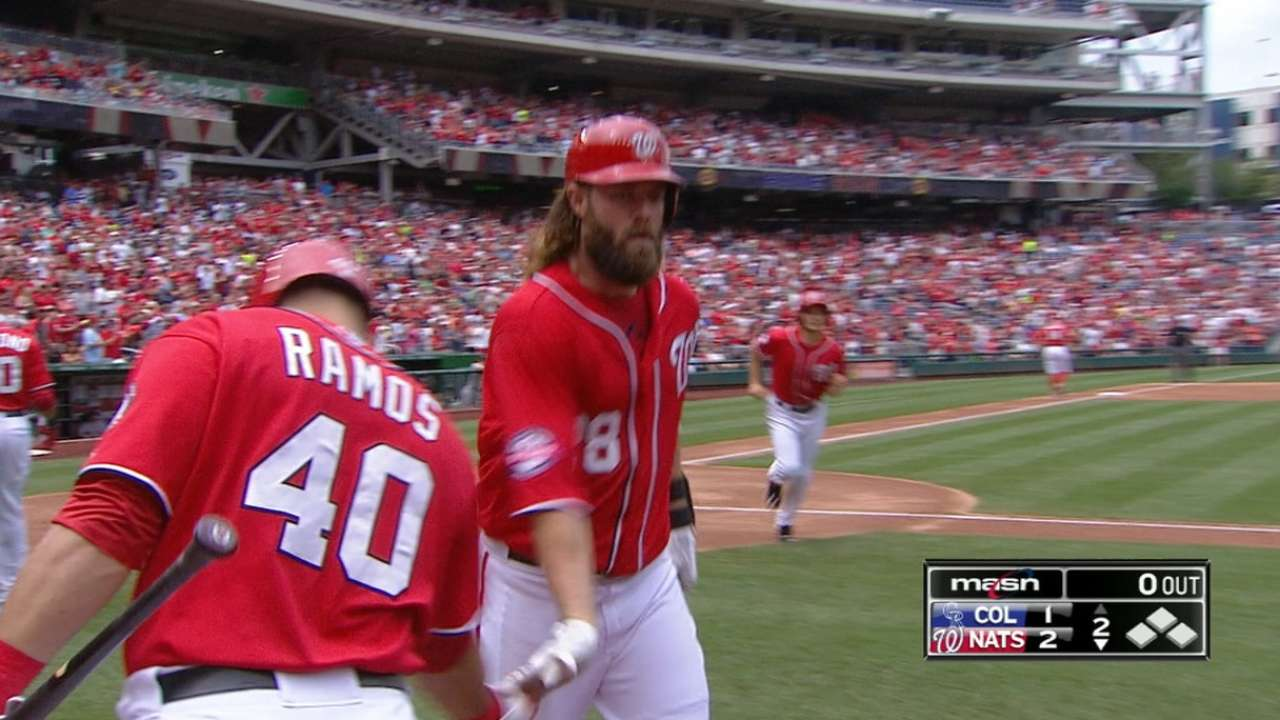 Nats unable to hold off Rockies in slugfest