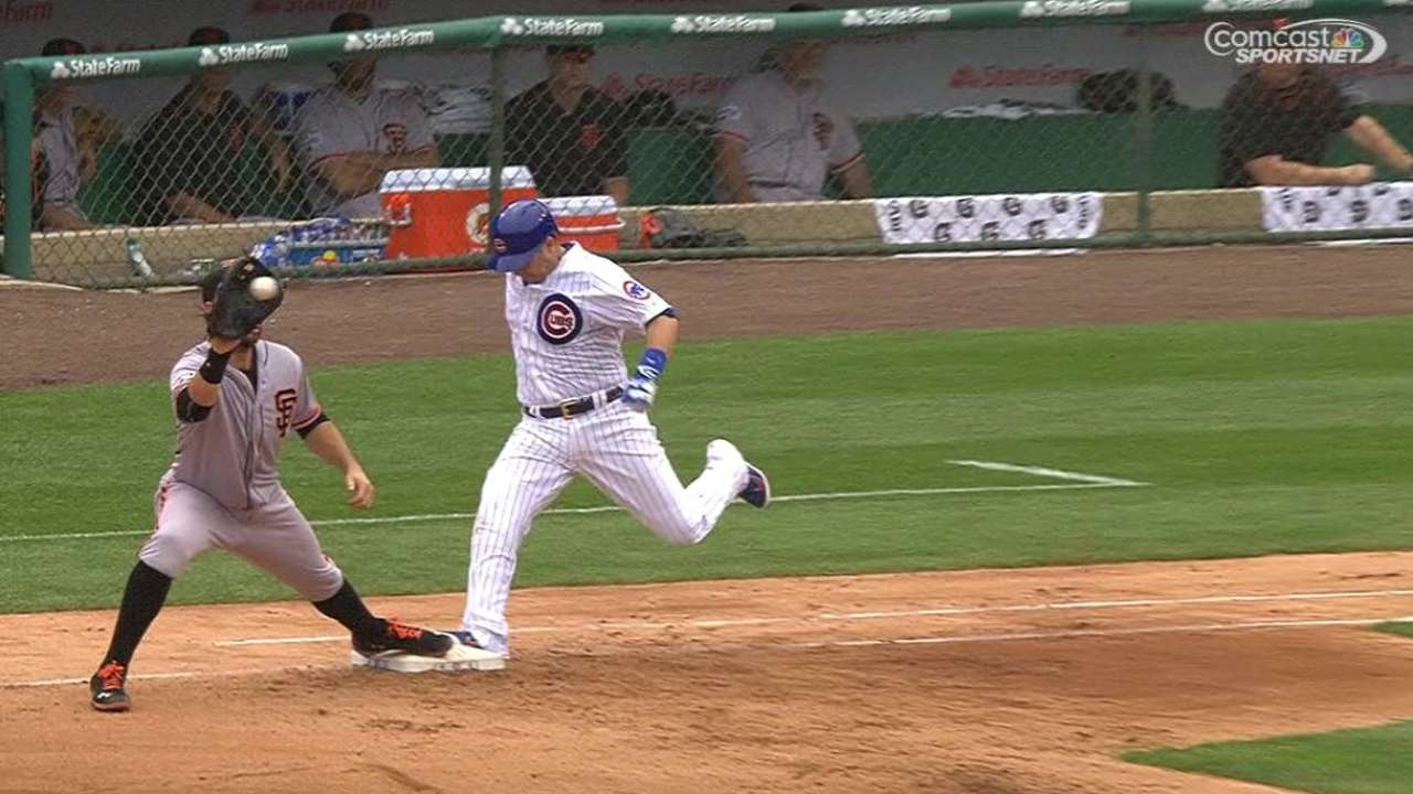 Cubs challenge out call at first