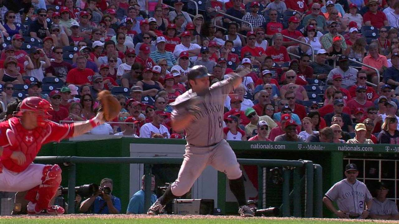 McKenry reaches after challenge