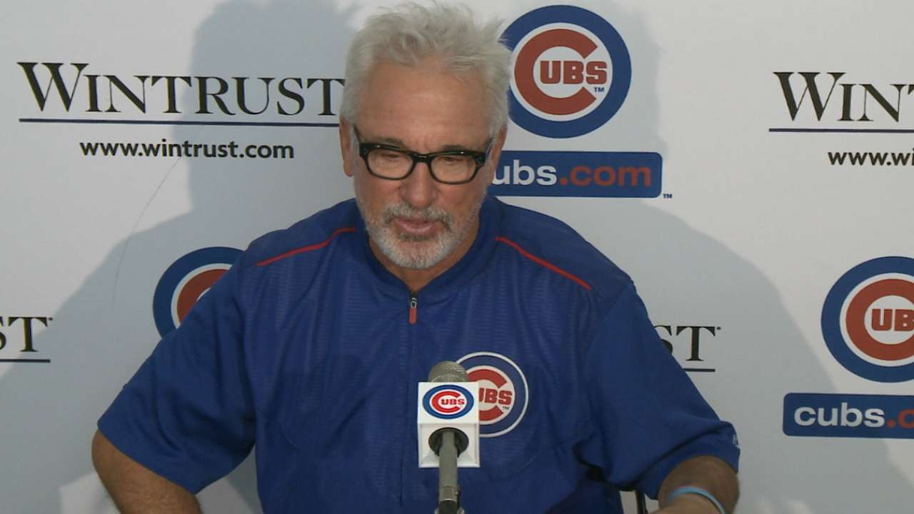 Maddon on sweeping the Giants
