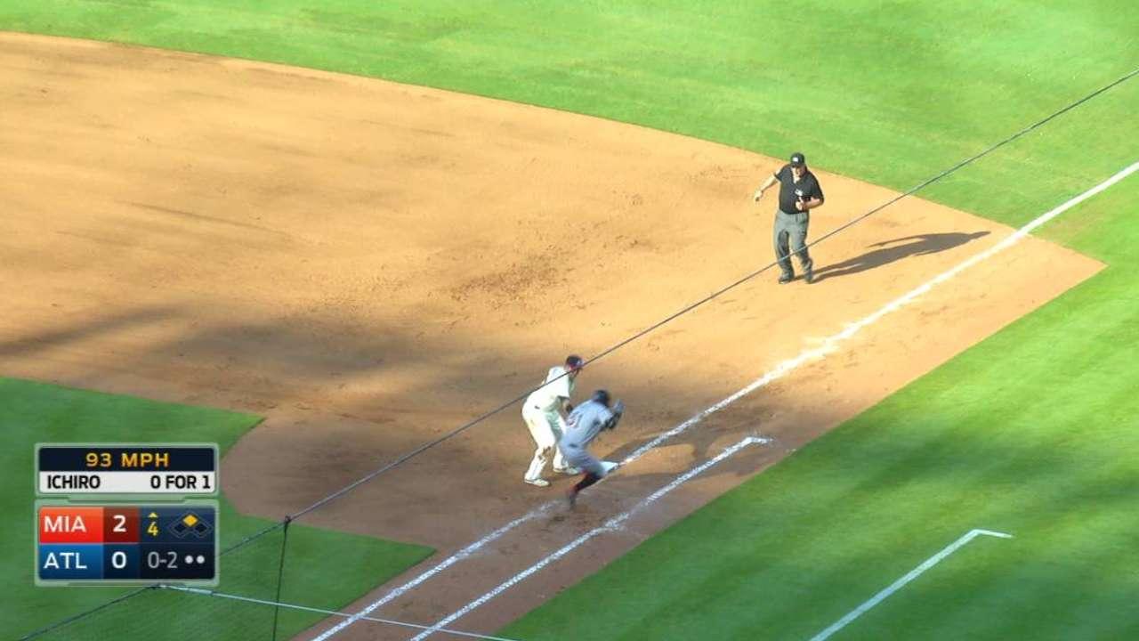 Swisher tags out Ichiro