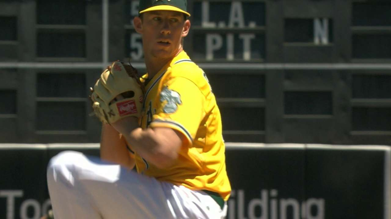 Bassitt finishes off dominant series by A's hurlers