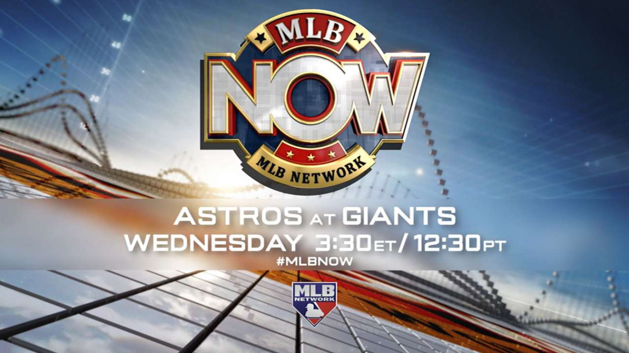 MLB Network to show special Astros-Giants telecast