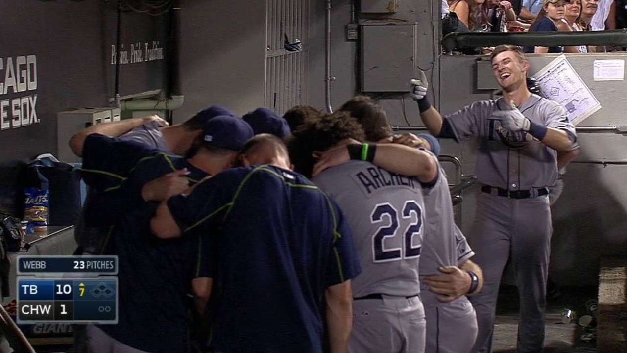 Shaffer homers for first MLB hit