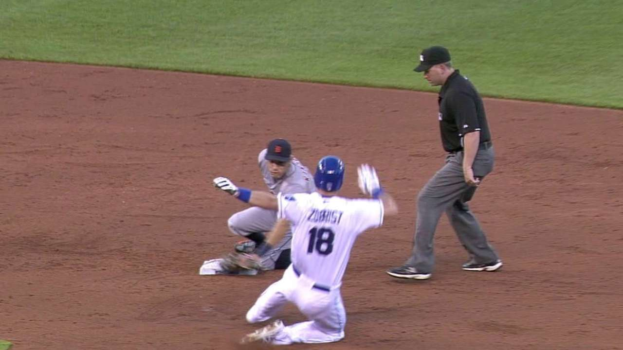 Collins nabs Zobrist at second