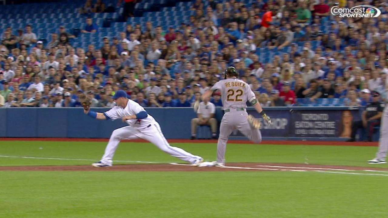 Reddick makes it to first