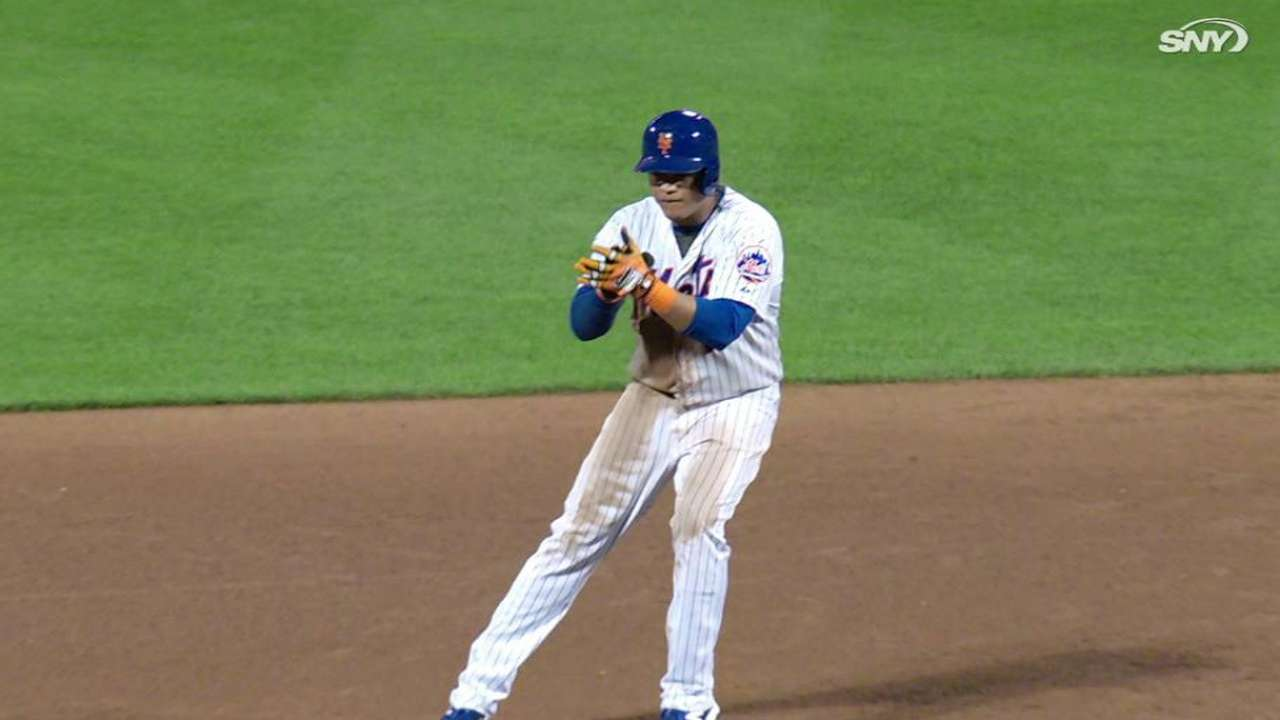 Lagares' two-run double