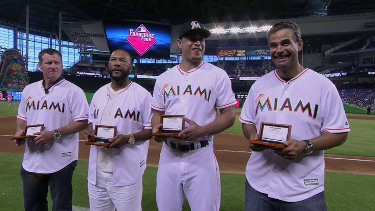 Franchise Four honored at Marlins Park