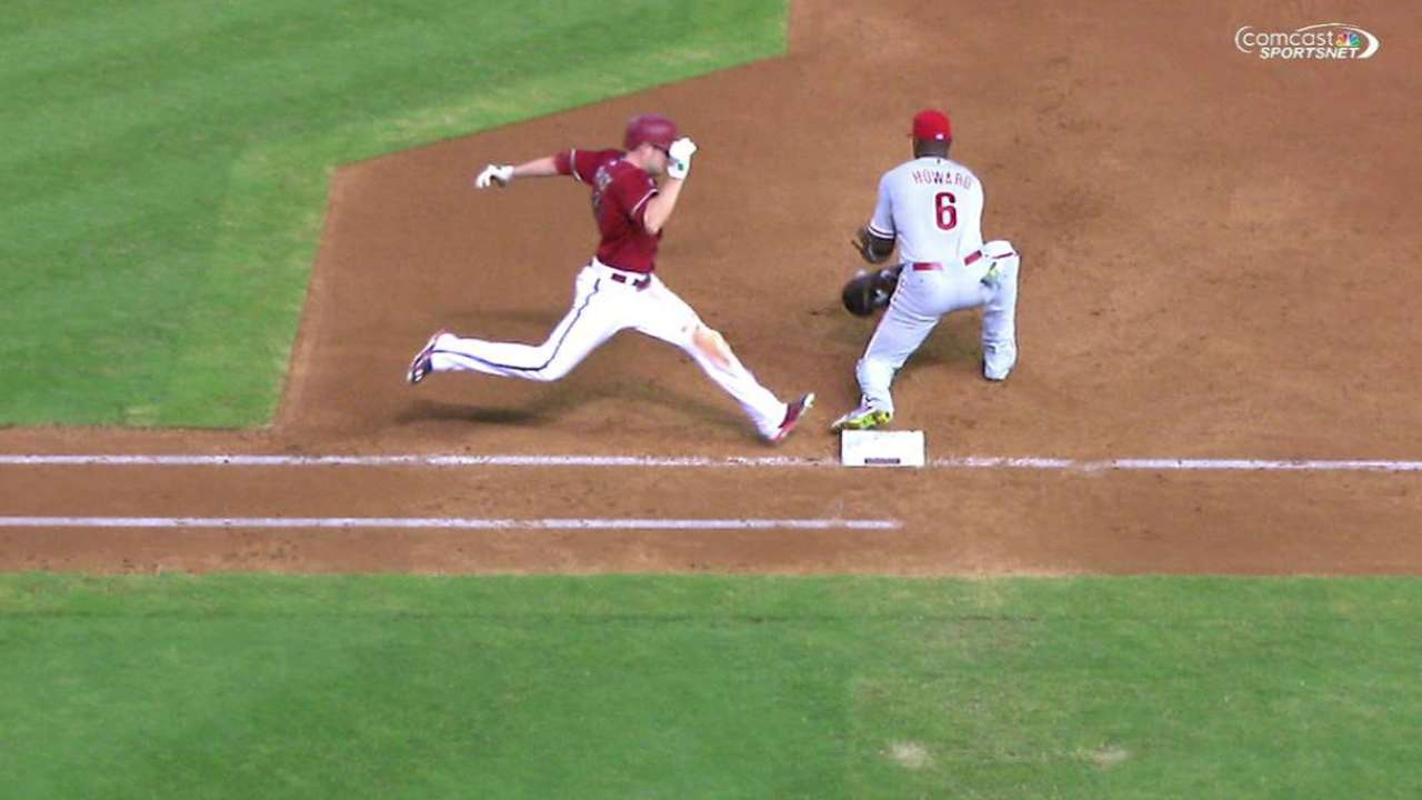 Blanco nabs Pollock at first