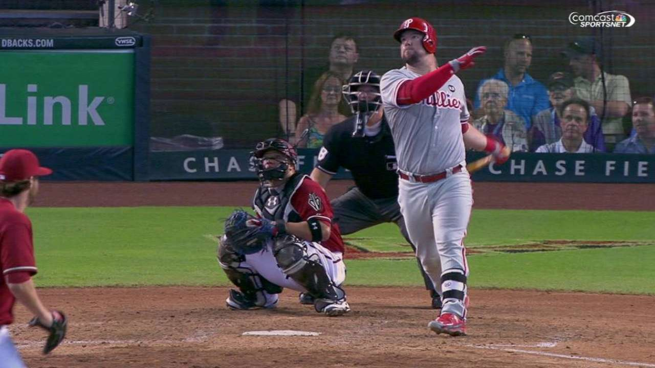 Phillies outslug D-backs in see-saw finale