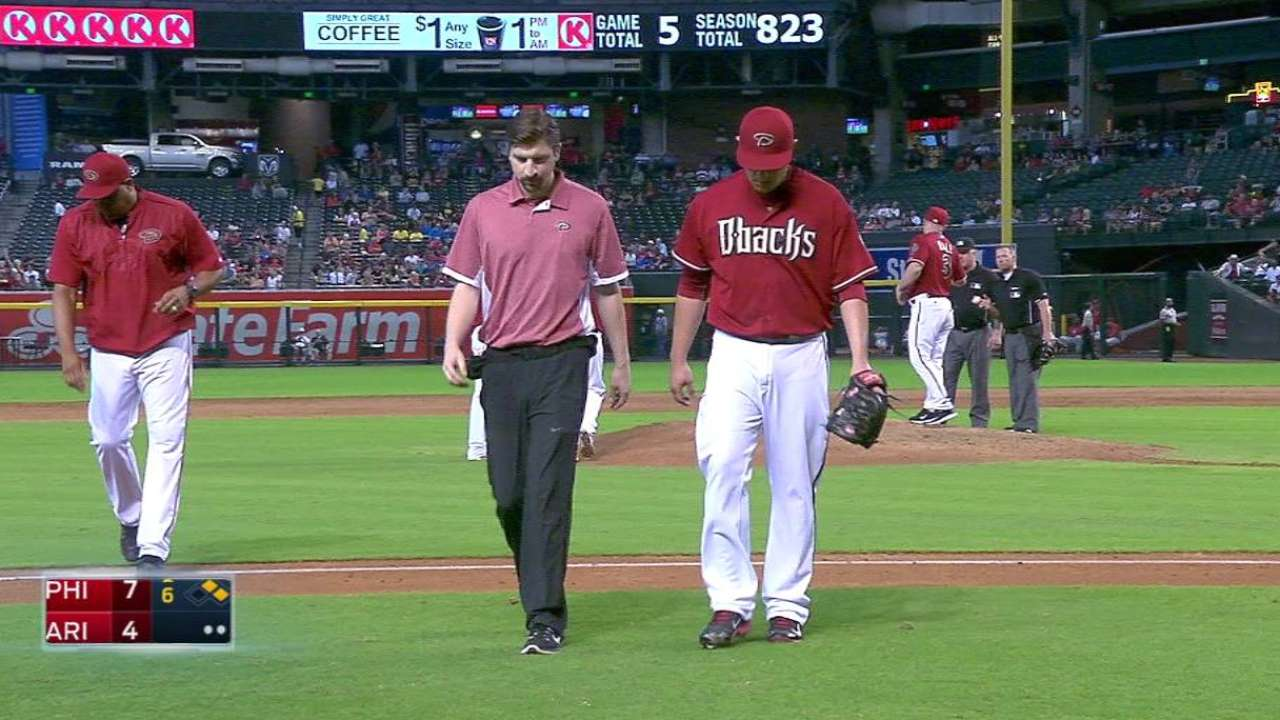 D. Hernandez exits with injury