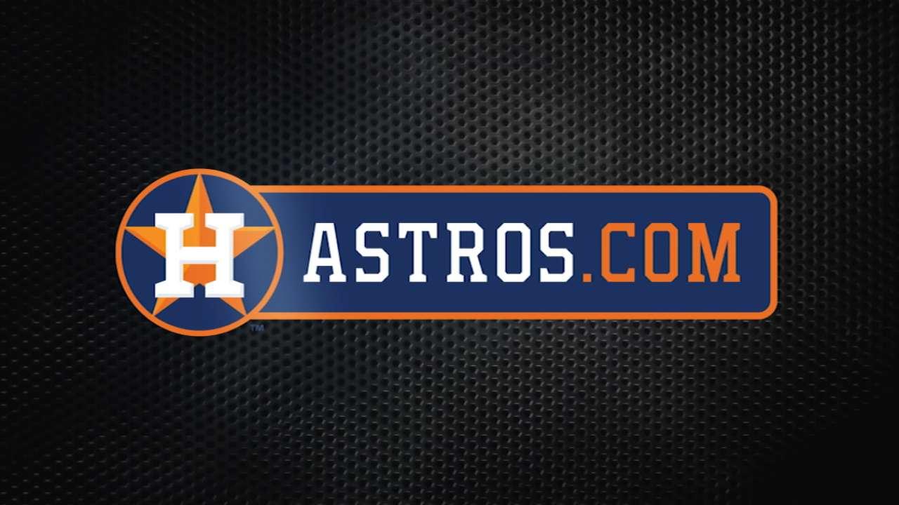 Astros doing due diligence on September callups