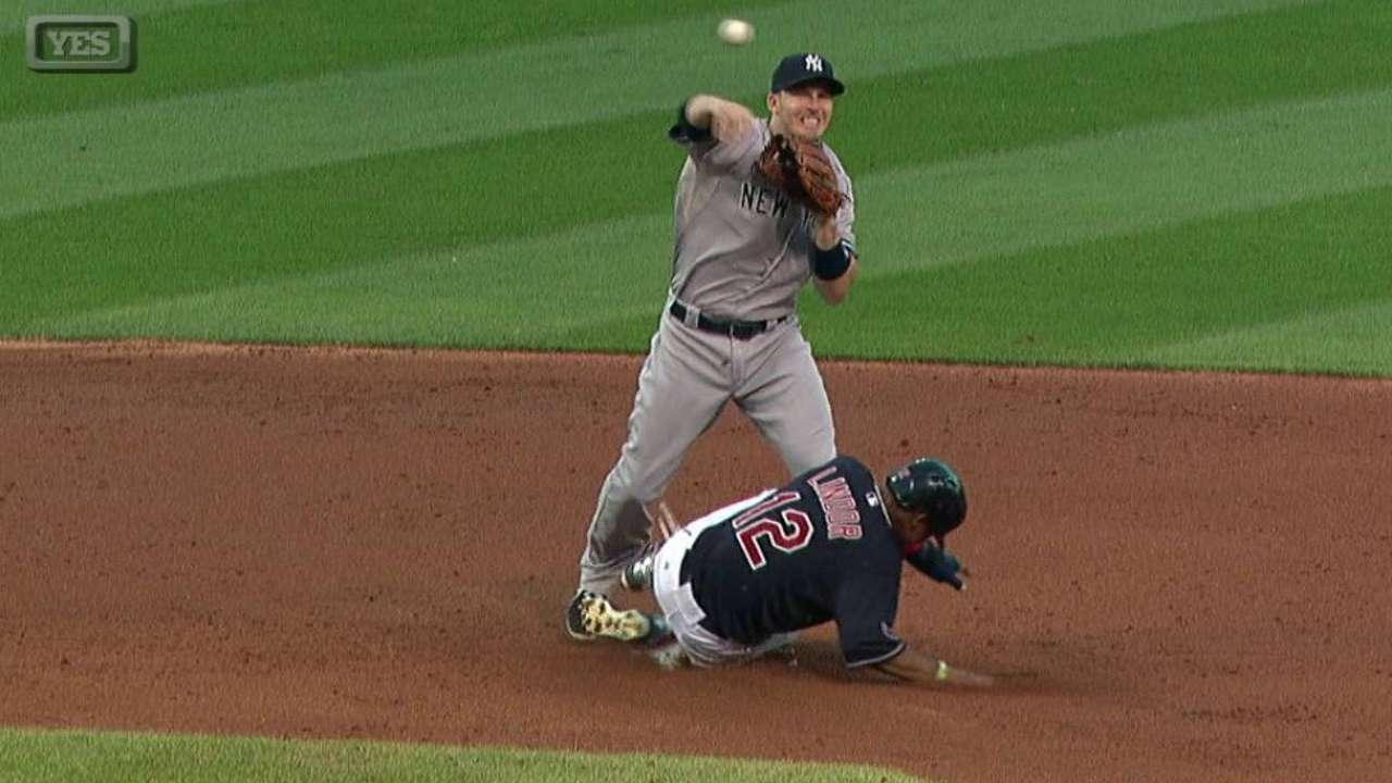 Yankees turn bases-loaded DP