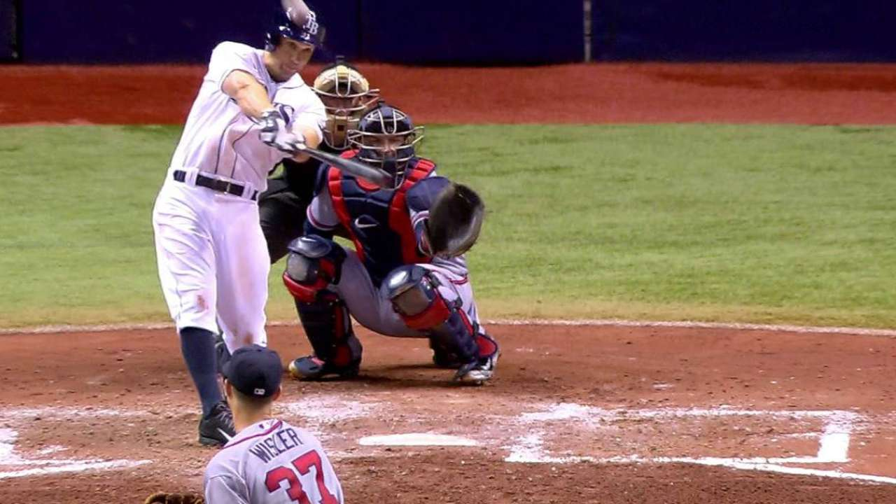 Sizemore homers off catwalk
