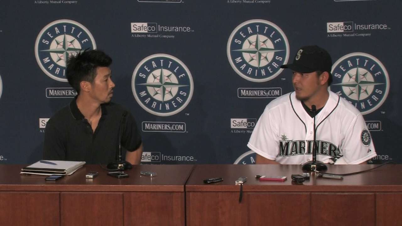 Iwakuma lets no-no sink in after traveling east