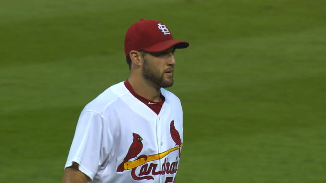 Wacha's win widens gap in NL Central