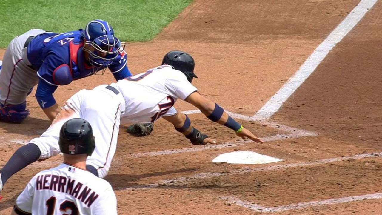 Rosario slides in safely at home